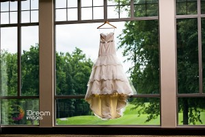 Wedding Dress Hanging in The Scioto Reserve